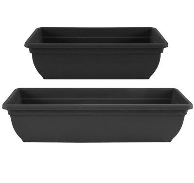Trough Plant Pot Long Plastic Planter Outdoor Garden Window Herb Flower Box • 13.99£