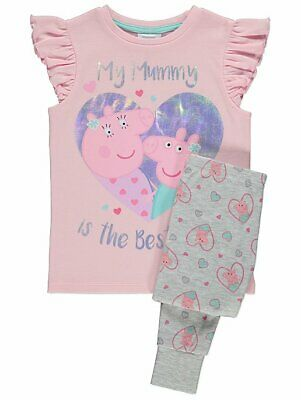 George Girls Official Peppa Pig Mummy Pig Mothers Day Pyjamas • 11.89£
