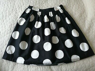 Black Polka Dot, Girls' Party Skirt By Autograph (Age 9-10) • 9£