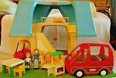 $225 • Buy Little Tikes Blue Roof Dollhouse With Original Box Made In U.s.a.!