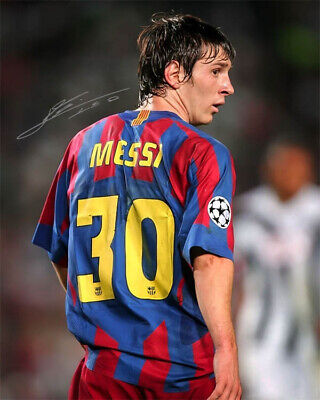 AU12.76 • Buy Lionel Messi FC Barcelona Rookie Jersey Number 30 Signed Photo Autograph Reprint