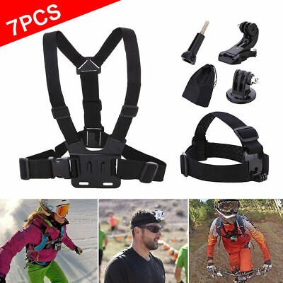AU14.59 • Buy 7 Accessories Set Chest Strap Floaty Bobber Monopod Head For Gopro Hero