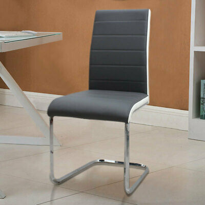 £84.95 • Buy 2-8 Z-Shape Chrome Dining Chair Modern Metal Kitchen Room Furniture Faux Leather