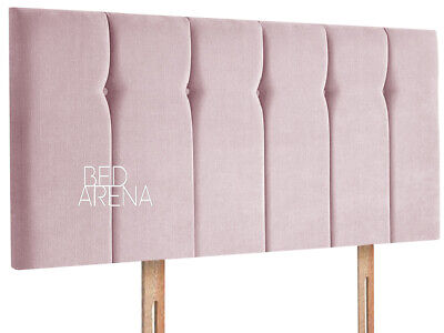 Plush Velvet Queen Style Headboard With Diamante & Buttons, All Sizes & Color • 42.99£