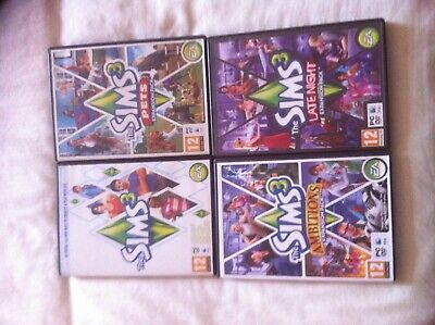 The Sims 3 Base Game Plus Pets, Late Night, And Ambitions Expansion Packs For PC • 10.99£