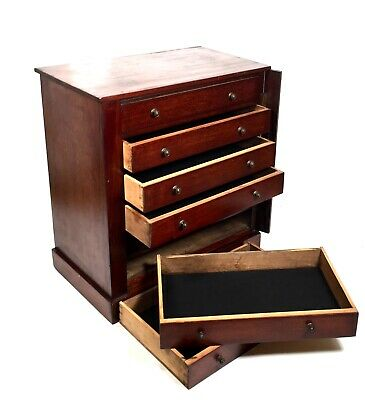 Antique Mahogany Wooden Collectors / Specimen Cabinet / Chest Of Drawers  • 330£