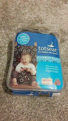 Totseat Portable Squashable Washable Travel Fabric Highchair • 7.50£