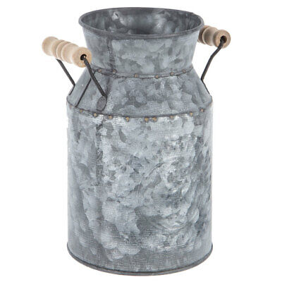 $16.99 • Buy  Embossed Galvanized Metal Milk Can Country Kitchen Primitive Home Decor