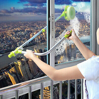 U-type Telescopic High Rise Window Cleaner Glass Dust Cleaning Brush Squeegee • 10.95£