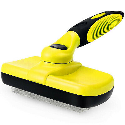 £7.95 • Buy Self Cleaning Pet Dog Cat Slicker Brush Grooming For Medium And Long Hair Pets