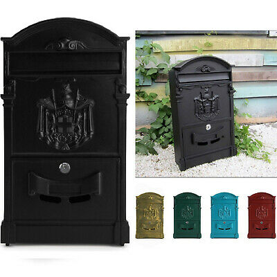 £19.95 • Buy Large Vintage Outdoor Lockable Letter Post Box Mailbox Wall Mounted Secure Mail