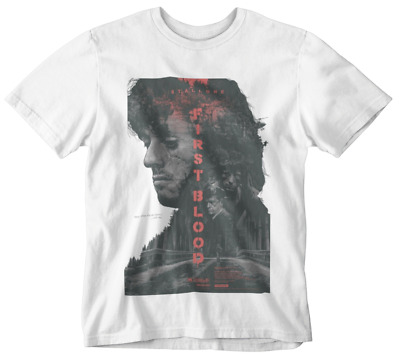First Blood T-shirt Rambo Sly Movie Poster Retro 80s 90s Yolo Tumblr Action Hero • 9.99£