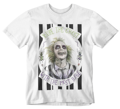 £4.99 • Buy Beetlejuice T-Shirt Ghost With The Most Babe Tee Movie Retro Film 80s 90s