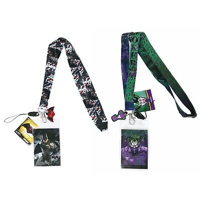 $13.95 • Buy DC Comics The Joker And Batman Lanyard With Soft Touch Dangle(2 Pack)