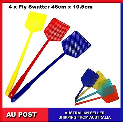 AU13.99 • Buy 12, 4 , Fly Swatter Insect Killer Bug Mosquito Cockroach Cockroaches