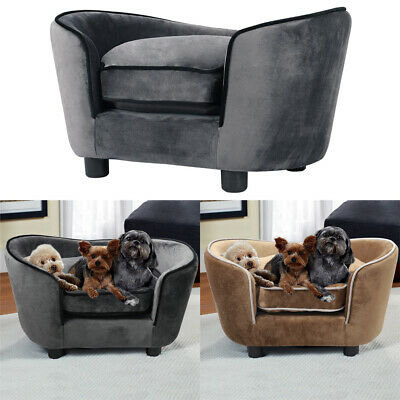 Extra Large Pet Sofa Chair Dog Puppy Cat Kitten Soft Couch Bed Mat With Cushion • 79.95£