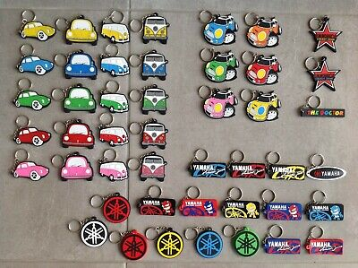 AU99.98 • Buy 120 Assorted Rubber Key Rings, Car / Bike. Motocross / Rally Car. Off Road 4WD