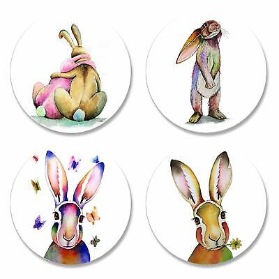 £12.22 • Buy Quilted Bear Rabbits & Hares By Artist Maria Moss Pattern Weights Set Of 4x50mm