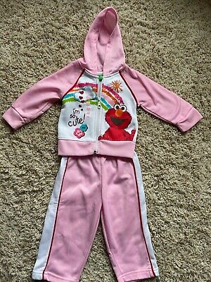 $14.99 • Buy 12 Month Elmo Sesame Street Jacket And Pant Set