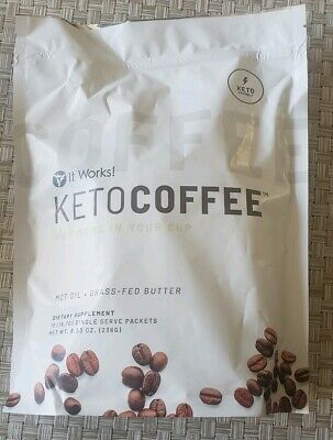$40.75 • Buy It Works! Keto Coffee 15 Individual Packets In Manufacture Sealed Bag