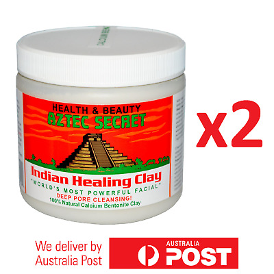 AU54.50 • Buy 2x Aztec Secret Indian Healing Clay Facial Deep Pore Cleansing Mask 454g NEW #96
