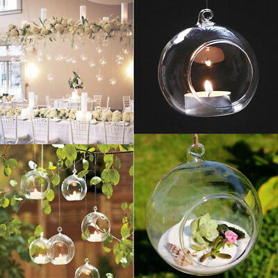 £10.74 • Buy Succulent Style Hanging Glass Bauble Sphere Ball Candle Tea Light Holder DIY Xma
