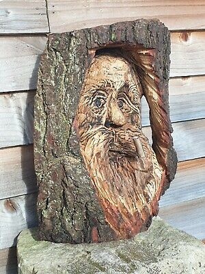Chainsaw Carved Green Man / Wood Spirit • 39.99£