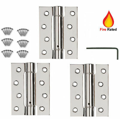 DOOR HINGES FIRE RATED Self Closing Single Action Adjustable Spring CP/EB/SC X 3 • 16.95£
