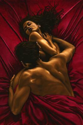 £16 • Buy The Passion - Signed Fine Art Giclée Print. Romantic Figurative Sensual Painting