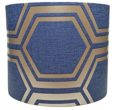 £28.99 • Buy Navy Gold Hexagon Geometric Lampshade Ceiling Light Shade Modern Accessories