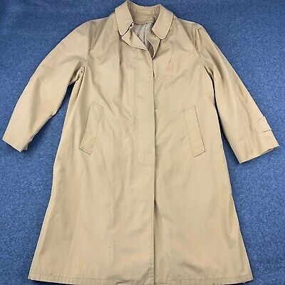$ CDN37.40 • Buy Vintage Smug 2 Ply Cloth Koratron Long Trench Coat See Pics For Size Beige Euc