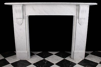 Large Fireplace Victorian Corbel 1870 Style Carrara Marble + Fitting Within M25 • 1,540£