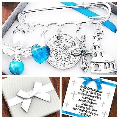 FIRST 1st HOLY COMMUNION, LUCKY SIXPENCE Charm, Keepsake, PERSONALISED GIFT • 3.95£