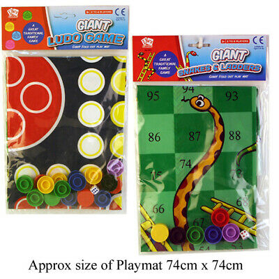 Traditional Giant Ludo Or Snakes & Ladders Family Game Gift Play Mat Family FUN • 2.65£