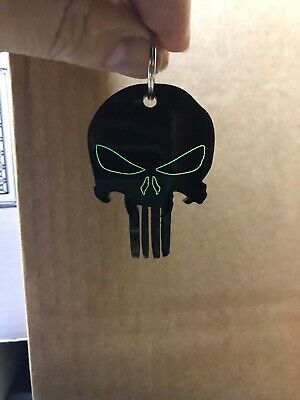 Punisher Glow Skull Key Ring - Zip Puller • 4£