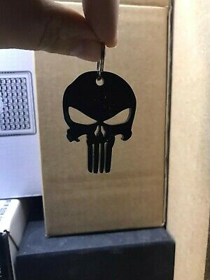 Punisher Skull Key Ring - Zip Puller • 4£