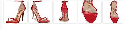 $ CDN44.10 • Buy Sam Edelman Ariella Red Leather Strappy Ankle Stiletto Sandals 6.5 Retail $100
