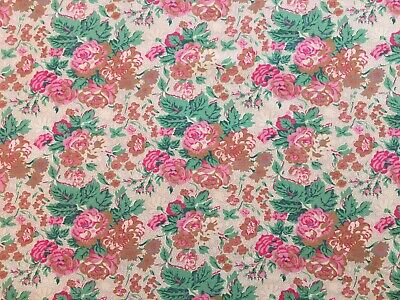 Beautiful Unused Vintage Floral Viyella Dress Fabric, 3.2M Long, Pink Roses • 44.99£