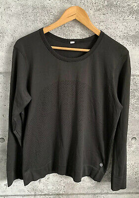 $ CDN75 • Buy Lululemon Breeze By Long Sleeve Black Perforated Size 12 *RARE*