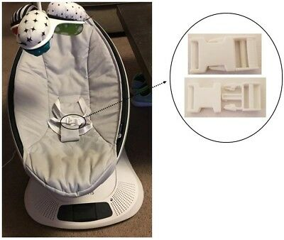 AU15.80 • Buy 1x 4Moms MamaRoo Newborn Baby Swing Seat White Safety Harness CLIP BUCKLE Parts