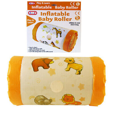 Inflatable Roller Baby Toy With Rattling Sounds Animals Design 35cm NEW • 4.95£