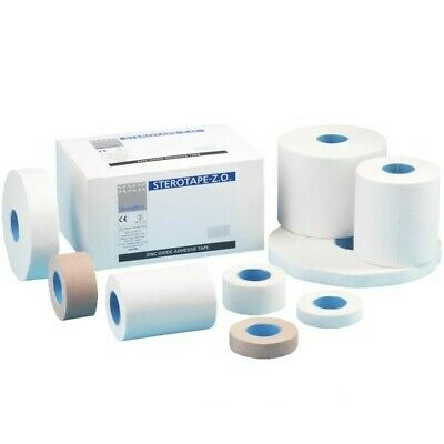 Steroplast White Zinc Oxide Tape Roll Sports Strapping Medical Clinical ZO - 10m • 2.49£