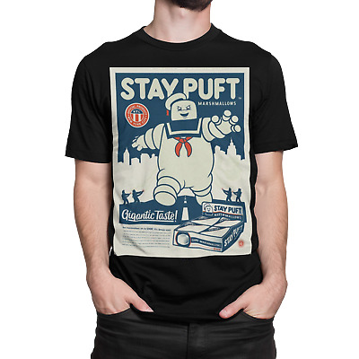 Ghostbusters Stay Puft T-shirt Chinese Japanese Horror Movie Film Retro 80s 90s • 6.75£