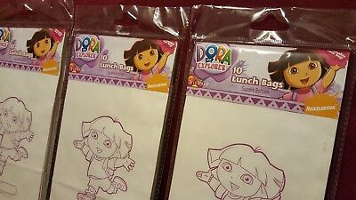 Vintage Rare Dora The Explorer Lunch Bags Nickelodeon 30 Count • 4.07£