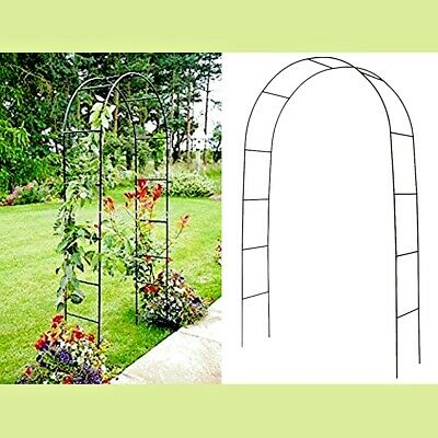 2M Outdoor Garden Metal Tubular Arch Frame Trellis Arched Climbing Plant Archway • 10.47£