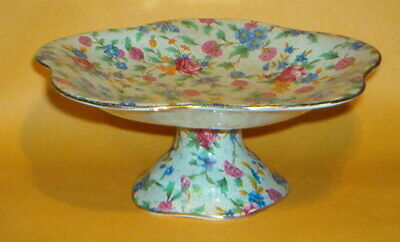 $ CDN49.93 • Buy Rare ROYAL WINTON - OLD COTTAGE CHINTZ - ROUND PEDESTAL COMPOTE - Pre 1960 Cream