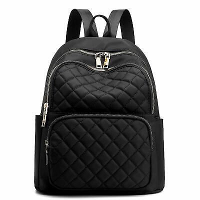 $42.27 • Buy Backpack For Women, Nylon Travel Backpack Purse Black Small School Bag For Girls