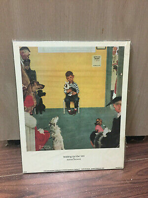$ CDN19.99 • Buy Norman Rockwell Laminated Plaque Print Waiting For The Vet