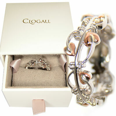 Clogau Size Q Tree Of Life Silver Welsh 9ct Rose Gold Ring Gift Wrapped • 99.95£
