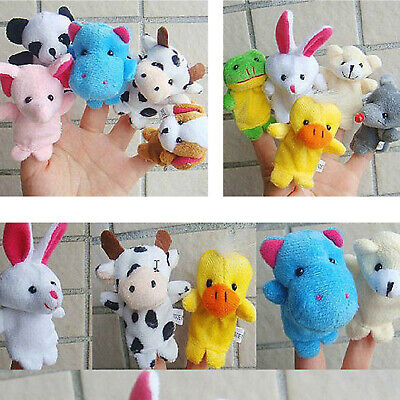 10x Farm Zoo Animal Finger Puppets Toys Boys Girls Babys Party Bag Filler Uk • 3.75£
